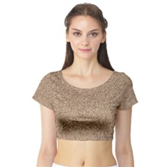 Mosaic Pattern Background Short Sleeve Crop Top (tight Fit)