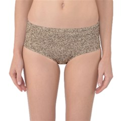 Mosaic Pattern Background Mid-Waist Bikini Bottoms