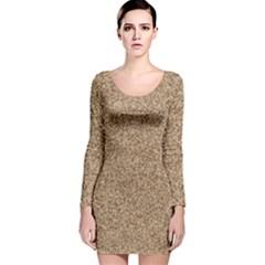 Mosaic Pattern Background Long Sleeve Velvet Bodycon Dress