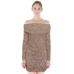 Mosaic Pattern Background Long Sleeve Off Shoulder Dress