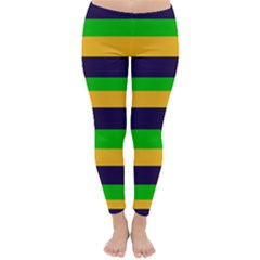 Mardi Gras Stripes Classic Winter Leggings