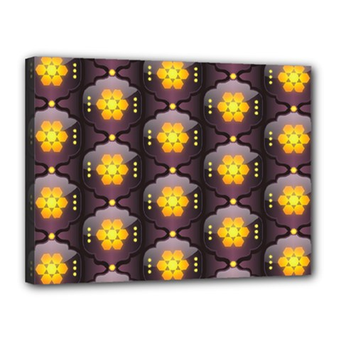 Pattern Background Yellow Bright Canvas 16  x 12