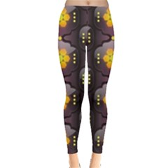 Pattern Background Yellow Bright Leggings