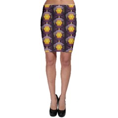 Pattern Background Yellow Bright Bodycon Skirt