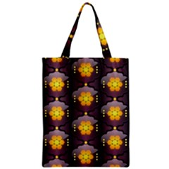 Pattern Background Yellow Bright Zipper Classic Tote Bag