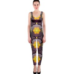 Pattern Background Yellow Bright Onepiece Catsuit