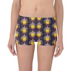 Pattern Background Yellow Bright Boyleg Bikini Bottoms