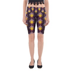 Pattern Background Yellow Bright Yoga Cropped Leggings