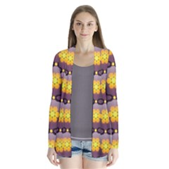 Pattern Background Yellow Bright Cardigans