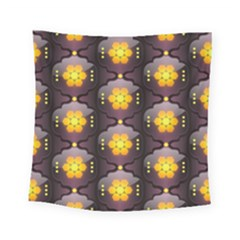 Pattern Background Yellow Bright Square Tapestry (small)