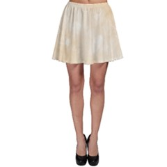 Pattern Background Beige Cream Skater Skirt
