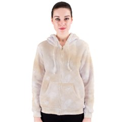 Pattern Background Beige Cream Women s Zipper Hoodie