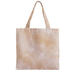 Pattern Background Beige Cream Zipper Grocery Tote Bag