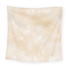 Pattern Background Beige Cream Square Tapestry (Large)