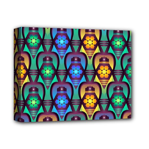 Pattern Background Bright Blue Deluxe Canvas 14  X 11