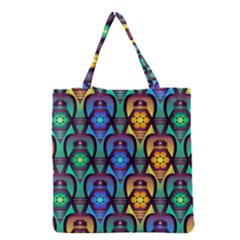 Pattern Background Bright Blue Grocery Tote Bag