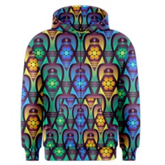 Pattern Background Bright Blue Men s Zipper Hoodie