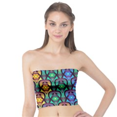 Pattern Background Bright Blue Tube Top