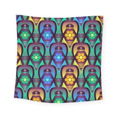 Pattern Background Bright Blue Square Tapestry (small)