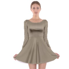 Pattern Background Stripes Karos Long Sleeve Skater Dress