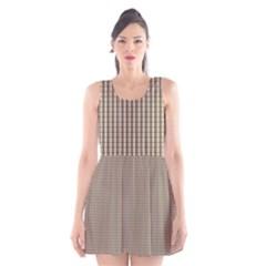 Pattern Background Stripes Karos Scoop Neck Skater Dress