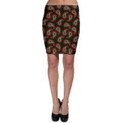 Pattern Abstract Paisley Swirls Bodycon Skirt