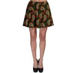 Pattern Abstract Paisley Swirls Skater Skirt
