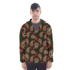 Pattern Abstract Paisley Swirls Hooded Wind Breaker (Men)