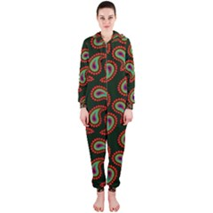 Pattern Abstract Paisley Swirls Hooded Jumpsuit (Ladies)