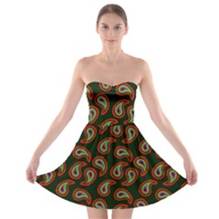 Pattern Abstract Paisley Swirls Strapless Bra Top Dress