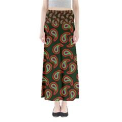 Pattern Abstract Paisley Swirls Maxi Skirts