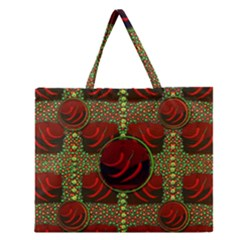 Spanish And Hot Zipper Large Tote Bag