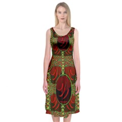 Spanish And Hot Midi Sleeveless Dress