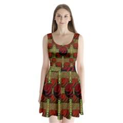 Spanish And Hot Split Back Mini Dress