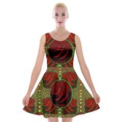 Spanish And Hot Velvet Skater Dress