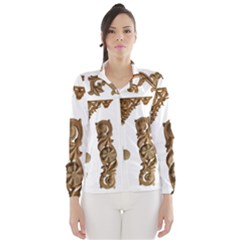 Pattern Motif Decor Wind Breaker (Women)