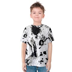 Pattern Color Painting Dab Black Kids  Cotton Tee