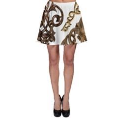 Pattern Motif Decor Skater Skirt