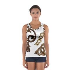 Pattern Motif Decor Women s Sport Tank Top