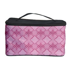 Pattern Pink Grid Pattern Cosmetic Storage Case