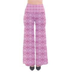 Pattern Pink Grid Pattern Pants