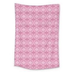 Pattern Pink Grid Pattern Large Tapestry