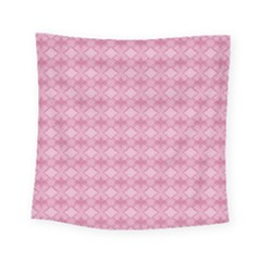Pattern Pink Grid Pattern Square Tapestry (Small)