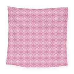 Pattern Pink Grid Pattern Square Tapestry (large)