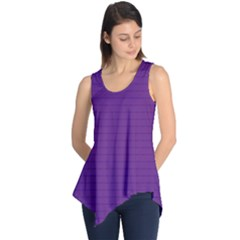 Pattern Violet Purple Background Sleeveless Tunic