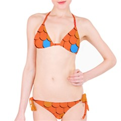 Roof Brick Colorful Red Roofing Bikini Set