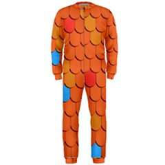 Roof Brick Colorful Red Roofing OnePiece Jumpsuit (Men)