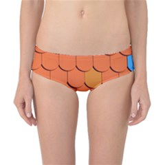 Roof Brick Colorful Red Roofing Classic Bikini Bottoms