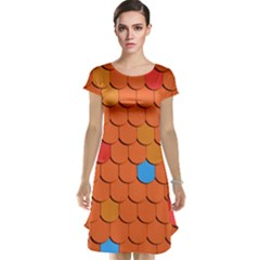 Roof Brick Colorful Red Roofing Cap Sleeve Nightdress