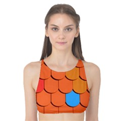 Roof Brick Colorful Red Roofing Tank Bikini Top